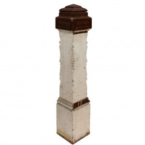 Reclaimed Antique Eastlake Boxed Newel Post, Walnut-0