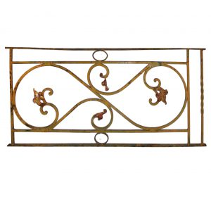 Antique Ironwork Panel with Foliates-0