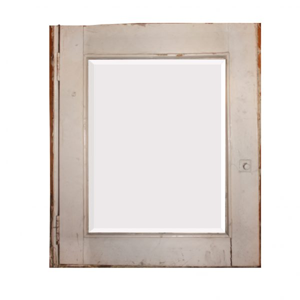 Salvaged Bathroom Medicine Cabinet with Beveled Mirror-0