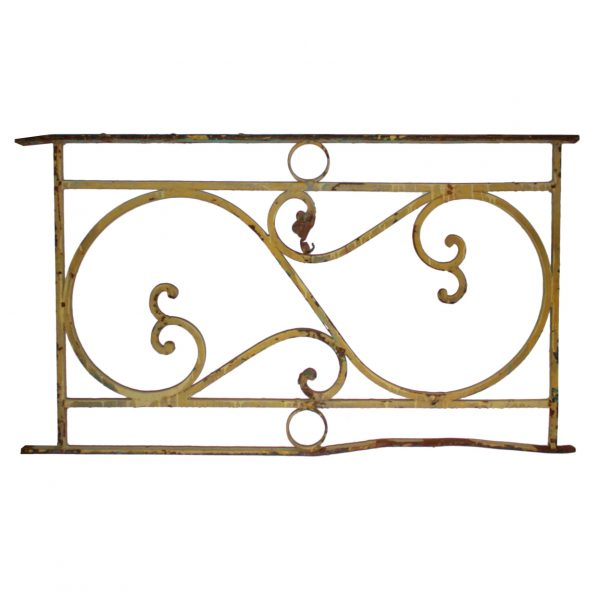Antique Ironwork Panel with Volutes-0