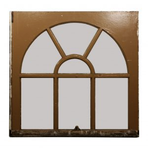 Reclaimed Antique Arched Window, c. 1910-0