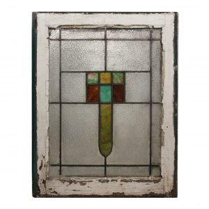 Antique American Arts & Crafts Stained Glass Window -0