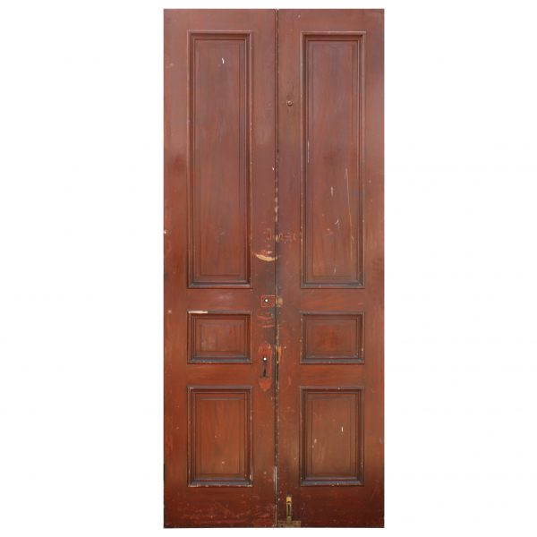 "Salvaged Pair of Antique 46"" Double Doors-0"