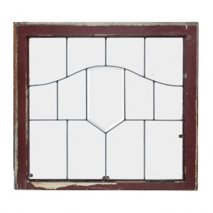 Antique Arts & Crafts American Leaded and Beveled Glass Windows-0