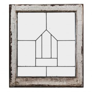 Antique American Leaded Glass Windows, Arts and Crafts-0