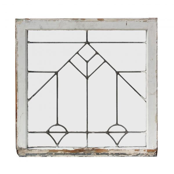 Antique American Beveled and Leaded Glass Window, Early 1900s-0