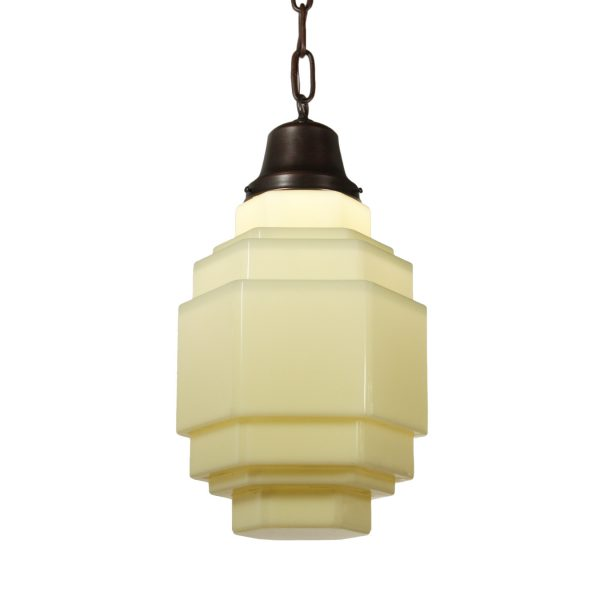 Antique Art Deco Pendant Light, c.1920s-0