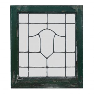 Antique American Leaded Glass Windows, Shield-0
