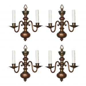 Antique Colonial Revival Sconces, Signed E. F. Caldwell-0