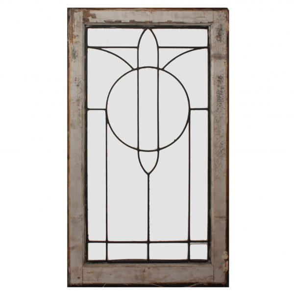 Antique American Leaded Glass Window, Early 1900s-0