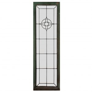 Antique American Glass Window, Early 1900s-0