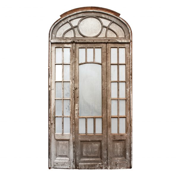 Salvaged Antique Arched Entry Set-0
