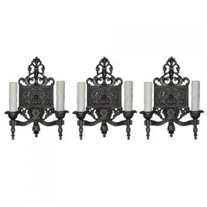 Neoclassical Double Arms Sconces, Antique Lighting-0