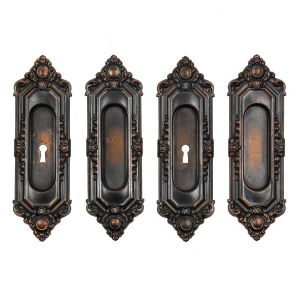 "Antique ""St. Julien"" Pocket Door Plate Pairs by Russell & Erwin, c. 1909-0"