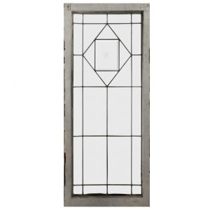 Antique American Beveled & Leaded Glass Window, Hand-Cut Star-0