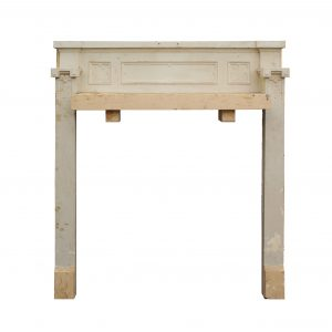 Salvaged Antique Tudor Fireplace Mantel, Quatrefoils-0