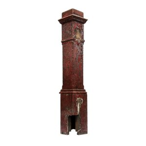Salvaged Antique Boxed Newel Post, Early 1900s-0