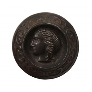 "Antique ""Lady"" Figural Cast Iron Knob, c.1875-0"