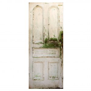 "Reclaimed 32"" Door with Arched Panels, Late 19th Century-0"