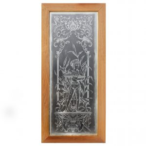 Antique American Acid-Etched Figural Window-0