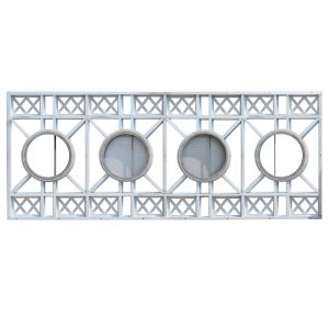 Substantial 15' Aluminum Art Deco Façade Ornaments, Sullivan Tower-0