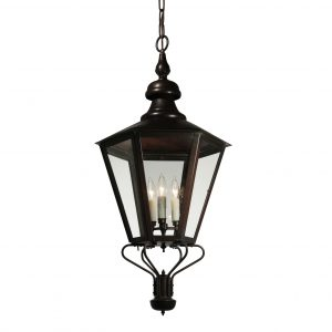 Large Vintage Exterior Copper Lantern, Vintage Lighting-0