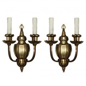 Exceptional Pair of Antique Sheffield Style Sconces by E. F. Caldwell-0