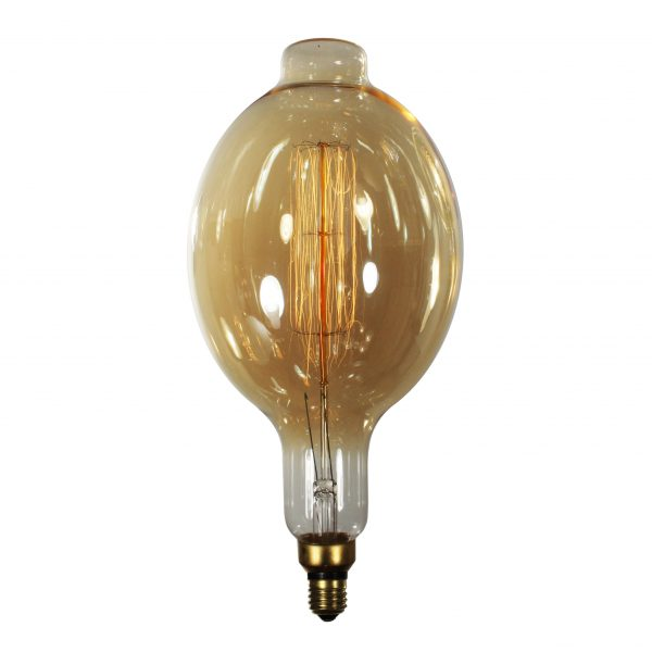 "Reproduction Edison Light Bulb, Oval ""Squirrel Cage"" Style-0"