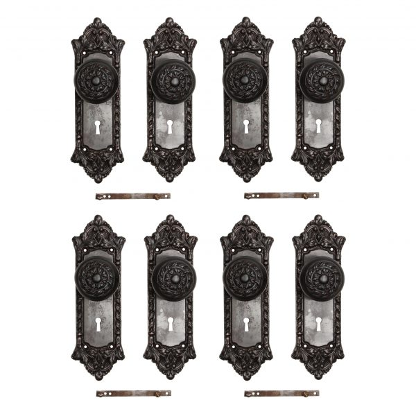 """Antique Cast Iron """"Chatham"""" Door Hardware Sets by Russell & Erwin, c. 1909-0"""