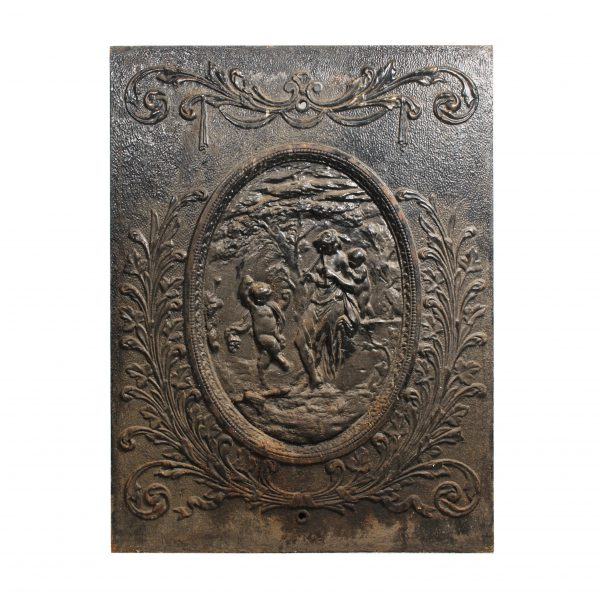 Antique Neoclassical Cast Iron Summer Cover, Figural-0