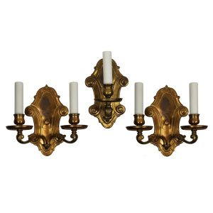 Set of Three Antique Sconces by E.F. Caldwell-0