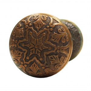 "Antique Bronze ""Star"" Door Knob Sets by Branford, c. 1886-0"