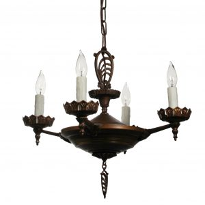 Antique Art Deco Chandelier, c. 1930-0