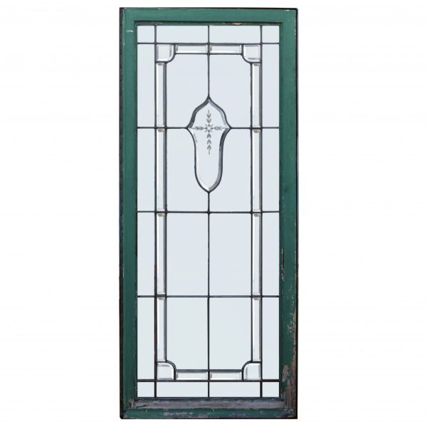 Antique Leaded and Beveled Glass Windows-0