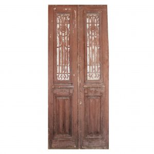 "Salvaged French Colonial Revival 40"" Door Pair, Early 1900s-0"