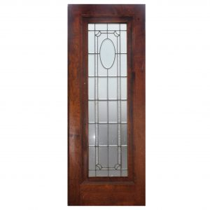 "Antique 31"" Door with Beveled Glass and Hand-Cut Star-0"