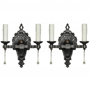 Pair of Antique Double Arm Neoclassical Sconces, Biltmore-0