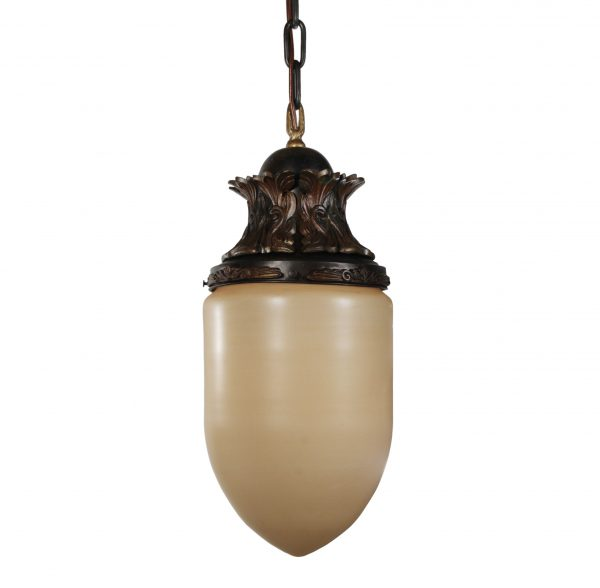 Antique Cast Bronze Pendant Lights, Bullet Shade -0