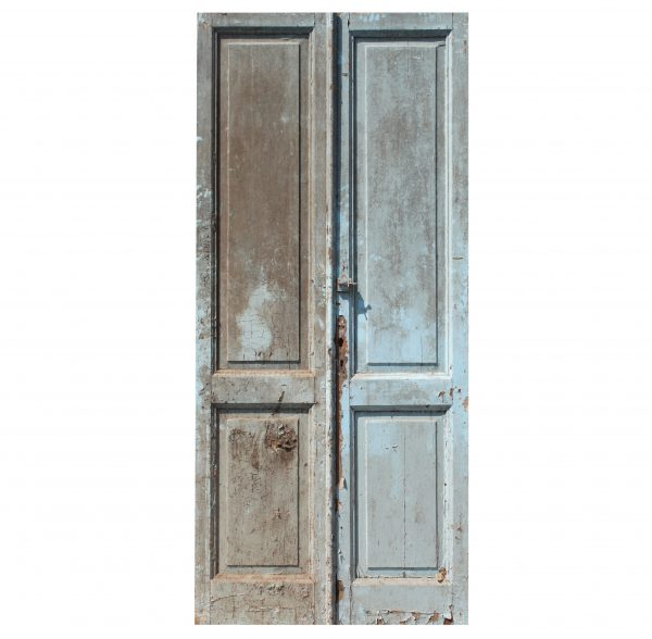 "Salvaged 42"" Pair of Antique Doors-0"