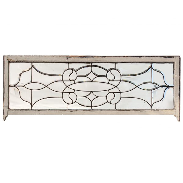 Antique American Leaded & Beveled Glass Transom-0