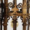 Antique Spanish Revival Five-Light Bronze Chandelier, Early 1900s-68656