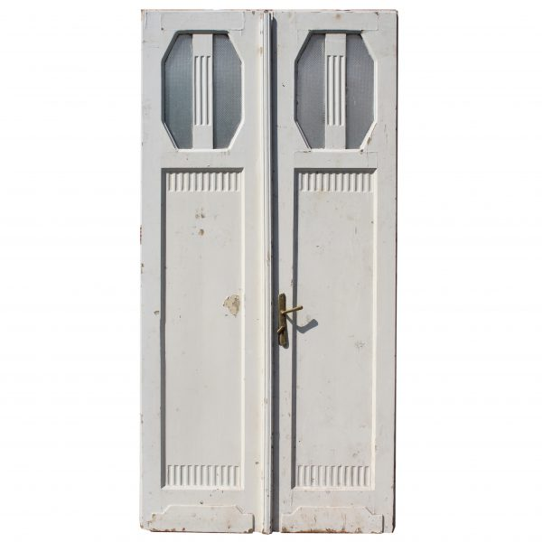 Unusual Pair of Antique Doors; Art Deco-0