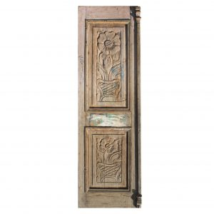 "Salvaged 29"" Door with Carved Details-0"