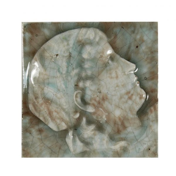 Antique American Figural Fireplace Tile, Providential Tile Works-0