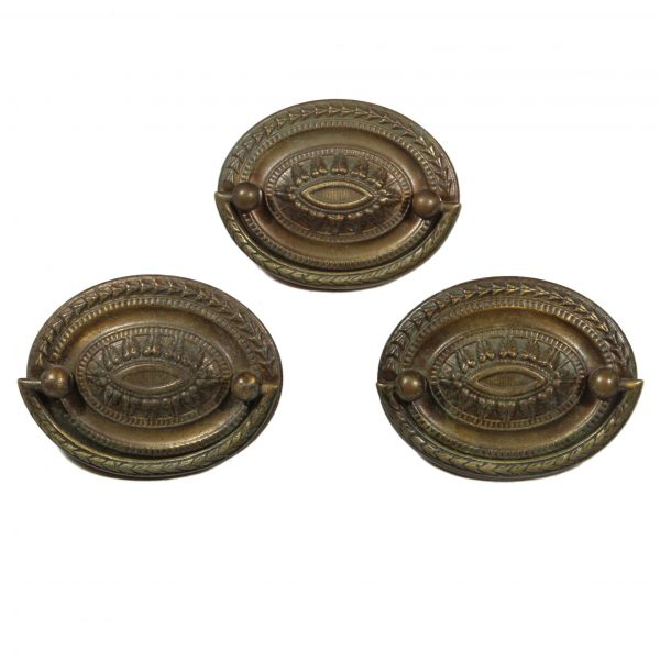 """Antique Brass Drop Ring """"Heppelwhite"""" Cabinetry Pulls-0"""