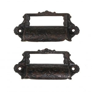 Antique Eastlake Cast Iron Apothecary Pulls, c. 1880's-0