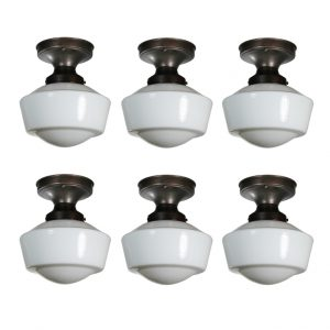 Antique Flush Mount Schoolhouse Lights-0