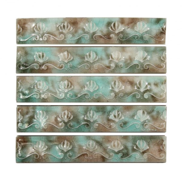 Antique Tiles with Guilloche Design, Providential Tile Works -0
