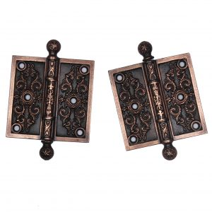 "Pair of Antique 3.5"" Eastlake Hinges, c. 1880's -0"