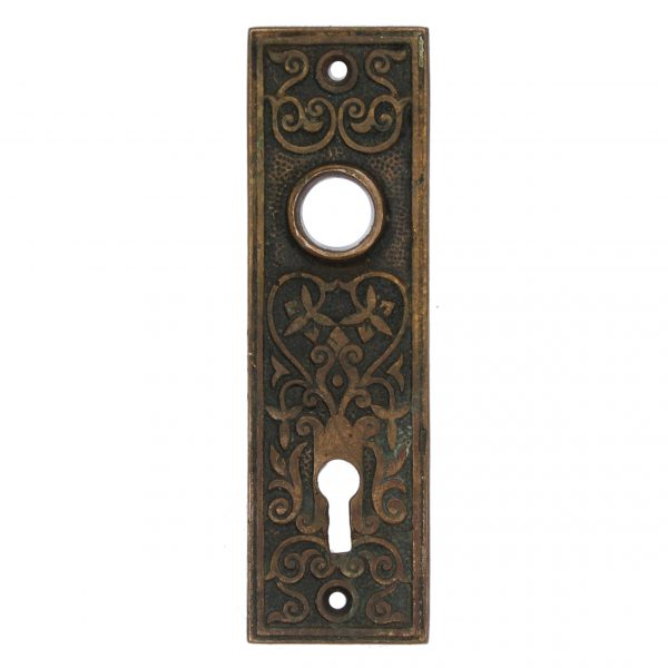 Antique Eastlake Cast Bronze Doorplates, Late 19th Century-0